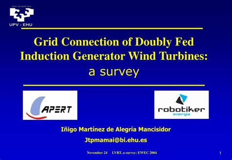 induction generator for wind energy ppt grid connection of doubly fed induction generator wind turbines a survey powerpoint