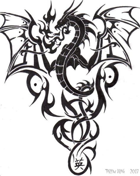 tattoo gallery dragon tribal tribal dragon by tigeress08 on deviantart dragons