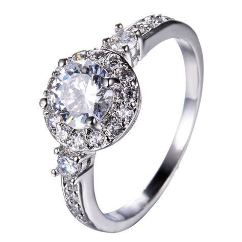 white sapphire silver wedding band ring 10kt white gold