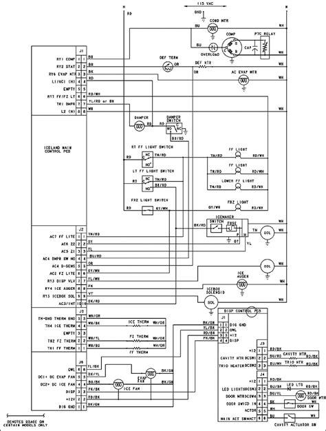 kenmore top freezer refrigerator wiring diagram gibson