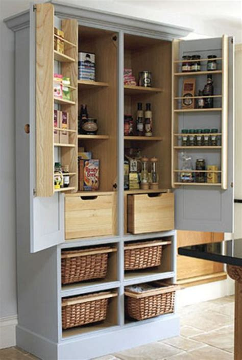 Movable Kitchen Pantry Large Free Standing Kitchen Cabinet Portable Pantry Area