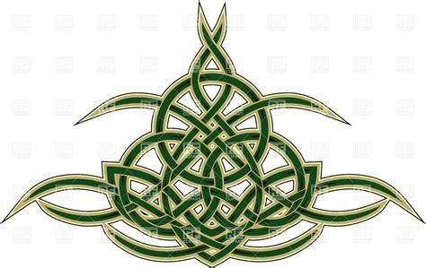 celtic design elements vector elegant decorative celtic ornament pattern in tattoo