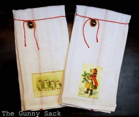 simple holiday dish towels  tonia   gunny