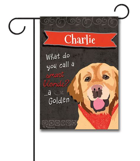 golden retriever garden flag personalized golden retriever garden flag 12 5 x 18 custom printed flags