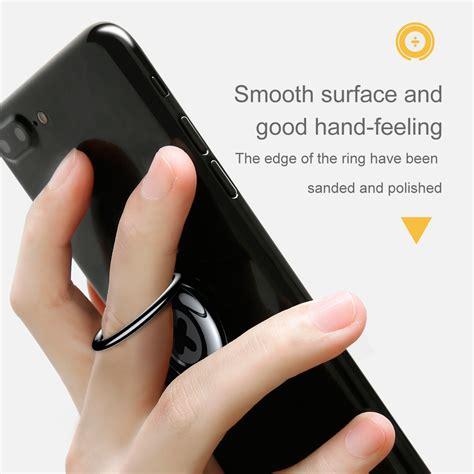 Sale Finger Grip Stand Phone Magnetic Function Hp 07 baseus symbol design creative ring bracket 360 degree