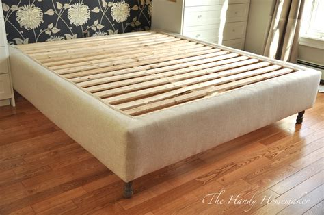 diy bed frame upholstered bedframe diy part 1 the handy homemaker