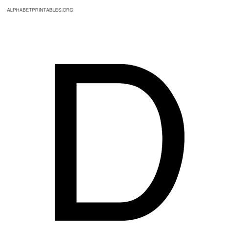 Black Alphabet Letters | Alphabet Printables org D
