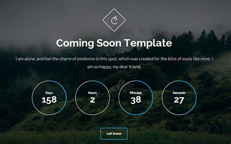 cortes coming soon template bootstrap landing pages