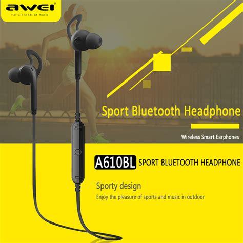 Awei Bluetooth Earphone Headset A610bl Awei Bluetooth Earphone Headset A610bl Black Jakartanotebook
