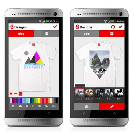 an android app snaptee design your own t shirt from your smartphone