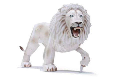 canon papercraft animal paper model white free