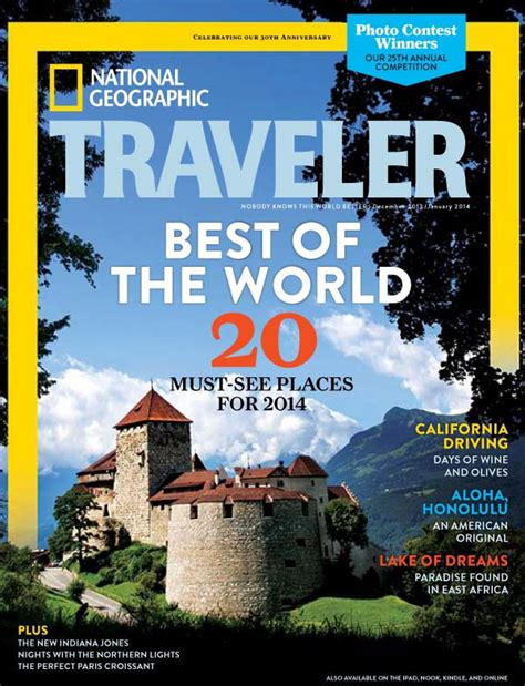2014 national geographic traveler s best of the world