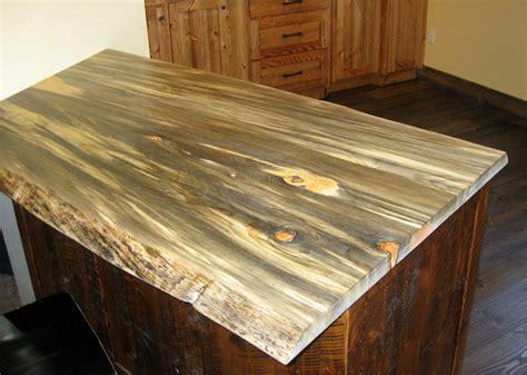 blue stain beetle kill pine slab tops sustainable lumber