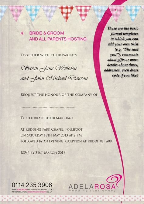 adelarosa wedding invitations leeds luxury wedding invitation wording one set of parents