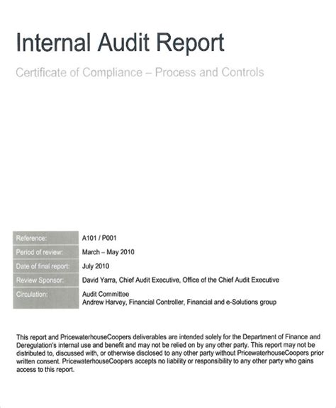 sle audit findings report 100 audit findings template 14 audit