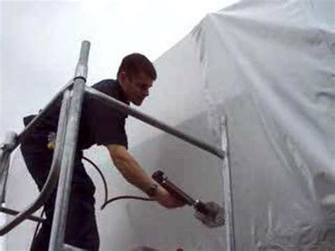 boat wrapping for winter boat shrink wrap process 2 shrinking youtube