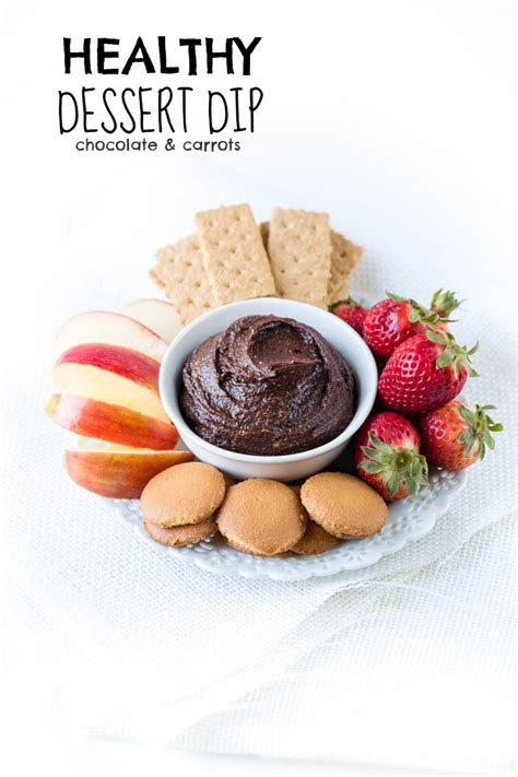 healthy dessert dip chocolate carrots