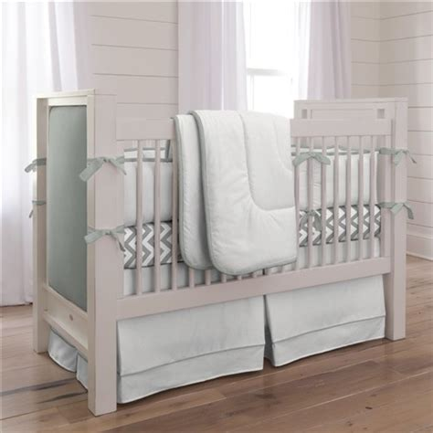 Modern Crib Sets by Touch Of Color Cloud Gray 3 Crib Bedding Set