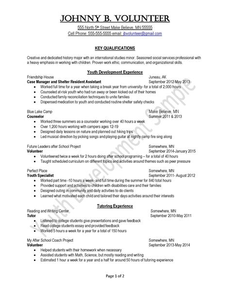 volunteer experience resume sle 28 images resume