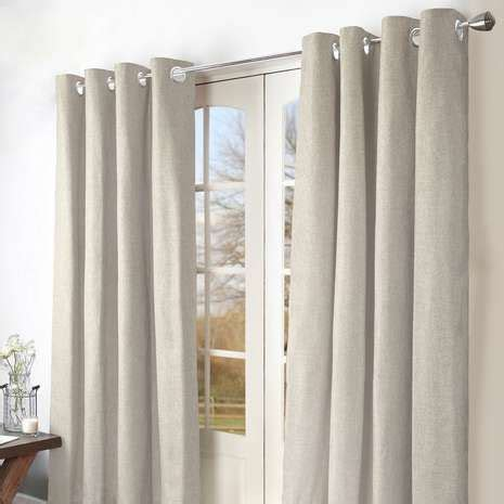 next natural woven hamilton stripe eyelet curtains