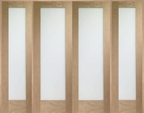 Oak Room Divider W8 Pattern 10 Oak Room Divider Set Obscured Modern Doors
