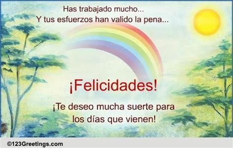 A Spanish Congratulation Card! Free Congratulations eCards