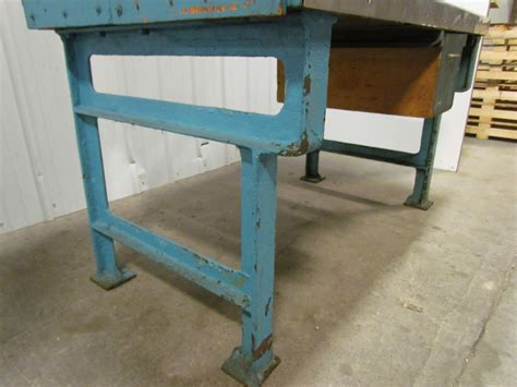 butcher block desk legs vintage industrial heavy duty workbench desk butcher block