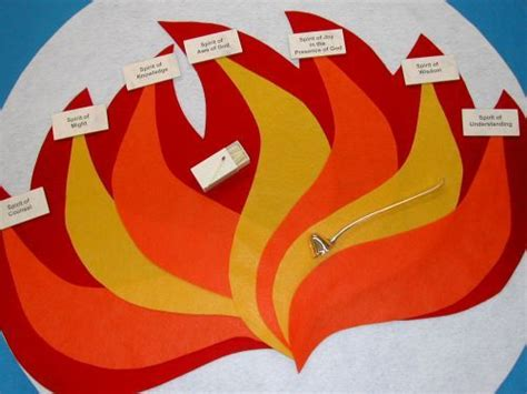 How To Make Flames Out Of Construction Paper - pentecost and construction on