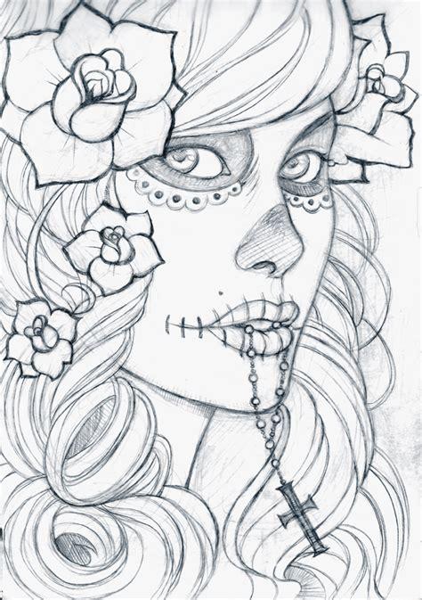 dia drawing dia de los muertos by boozits on deviantart