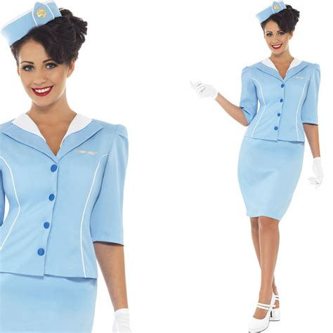 How To Dress For Cabin Crew by Cabin Crew Fancy Dress Costume Air Hostess Flight