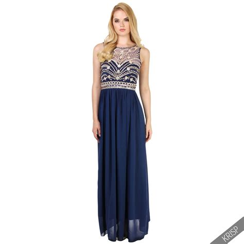 Longdress Pantai 8 womens formal prom maxi dress evening gown bridesmaid size 8 20 ebay