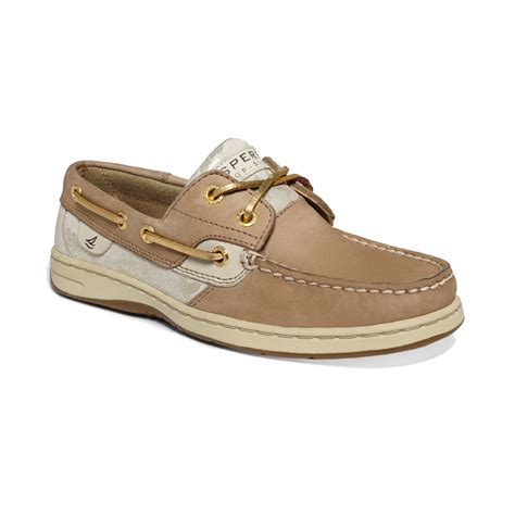 sperry shoes sperry top sider bluefish boat shoes in brown linen gold