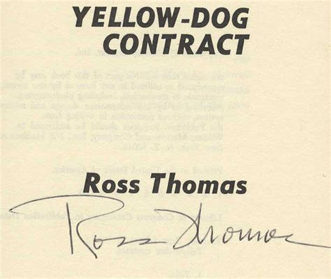 yellow contracts yellow contract 1st edition 1st printing ross books tell you why inc