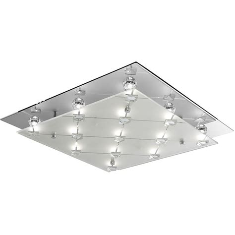 searchlight led square flush ceiling light with frosted