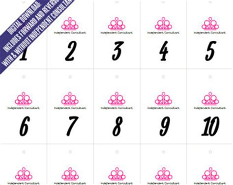 printable numbers for paparazzi paparazzi jewelry live sales regular and reverse mirror