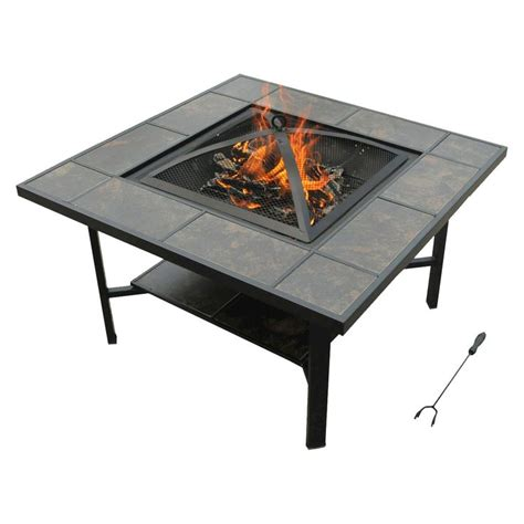 Leisurelife 4 In 1 Coffee Table Grill Cooler Firepit Firepit Ceramics