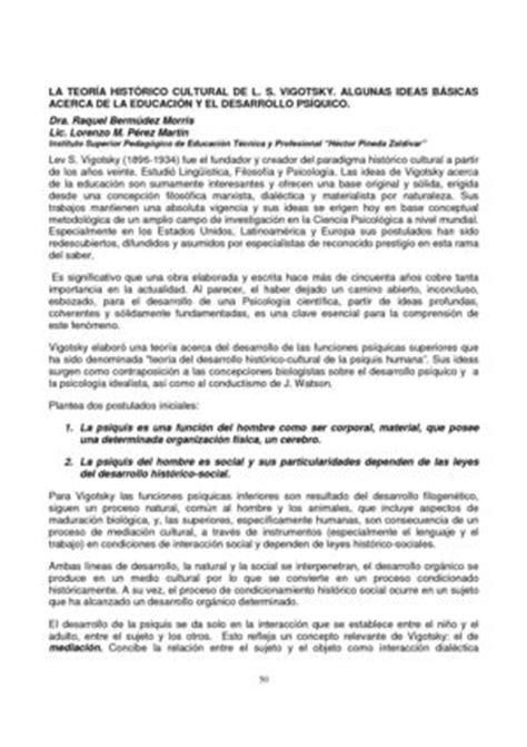 Modelo Curricular Historico Cultural Calam 233 O La Teor 237 A Hist 243 Cultural De Ls Vigotsky