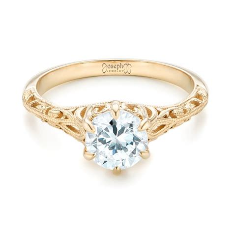 Yellow Gold Solitaire Engagement Rings And by Solitaire And Yellow Gold Engagement Ring 102767