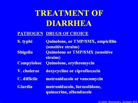 diarrhea treatment idp200 pathophysiology of infectious diseases fall 2004 2005 tufts opencourseware