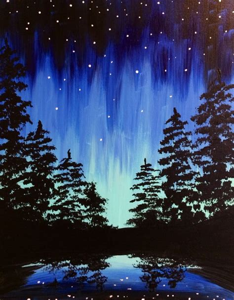 paint nite the tree best 25 acrylic paintings ideas on beginner