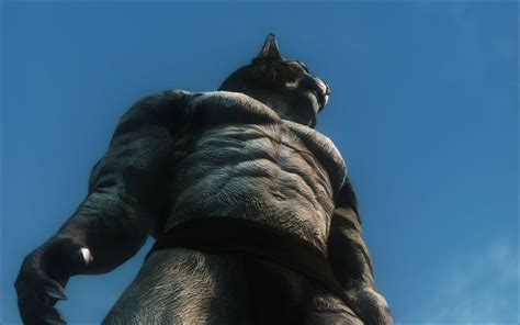 modded muscle muscular khajiit textures and skeleton モデル テクスチャ skyrim