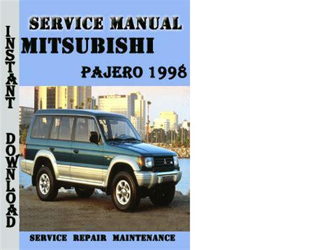car repair manuals download 1998 mitsubishi pajero engine control service manual 1998 mitsubishi pajero transmission repair manual 1998 mitsubishi pajero