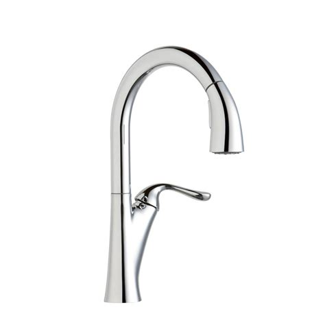 elkay kitchen faucets elkay single handle pull sprayer kitchen