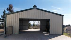 Building Plans For Metal Garage Paso Robles Steel Buildings Pws