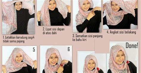 tutorial hijab segi empat untuk idul fitri model hijab segi empat untuk lebaran idul fitri 2017