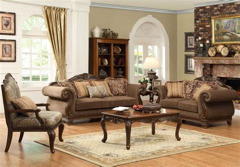 traditional living room set homelegance lambeth ii sofa set chenille u5699nf 3