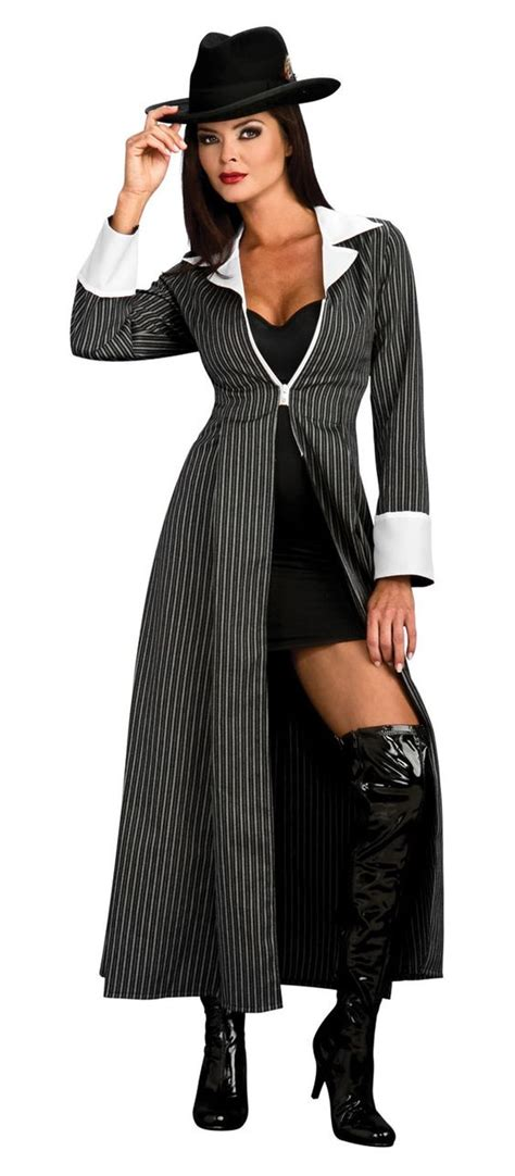 womens gangsta are hair do mobster women costumes adult gangster costume gangster