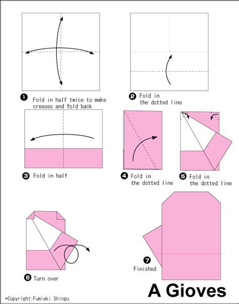 How To Make A Paper Glove - gloves easy origami for