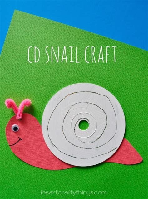 snail crafts for cd snail craft for snail craft and crafts