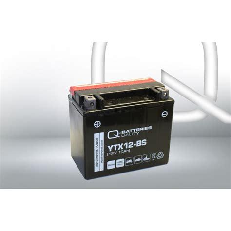 Motorrad Batterie Ytx12 Bs by Q Batteries Motorrad Batterie Ytx12 Bs Agm 51012 12v 10ah 180a